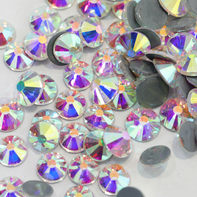 2028 Same Cut Facets Crystal AB Hot Fix Rhinestones