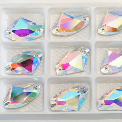 High quality glass flat back crystal sew on rhinestone