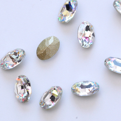 K9 quality point back special shape oval nail rhinestones