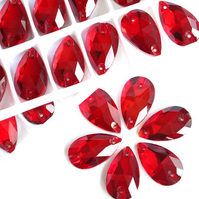 AAA quality flat back 13*18mm teardrop sew on crystals rhinestone