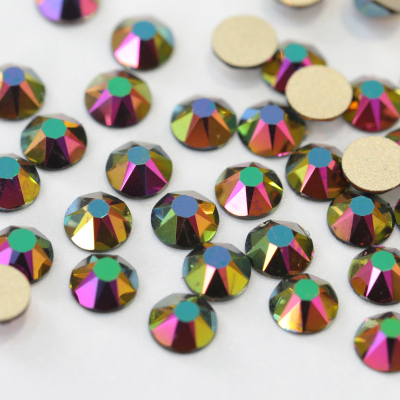 2088 style 16 cut facets Rose Gold AB non hotfix crystal nail art decoartion