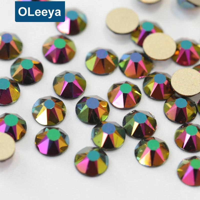 169b87e462 2088 style 16 cut facets Rose Gold non hotfix crystal nail art ...