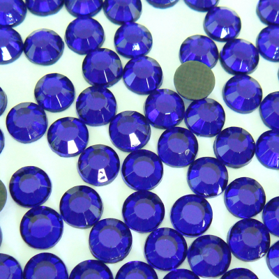 Wholesale Sapphire Imitation Korean Iron on Crystal Rhinestones