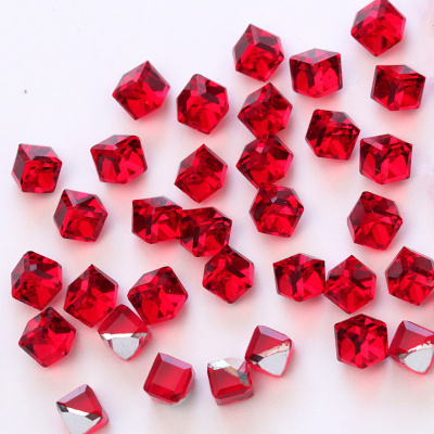 Glass 4mm square crystals nail rhinestones