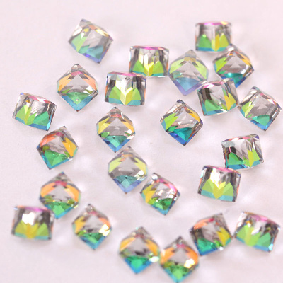Glass square 4mm nail art rhinestones