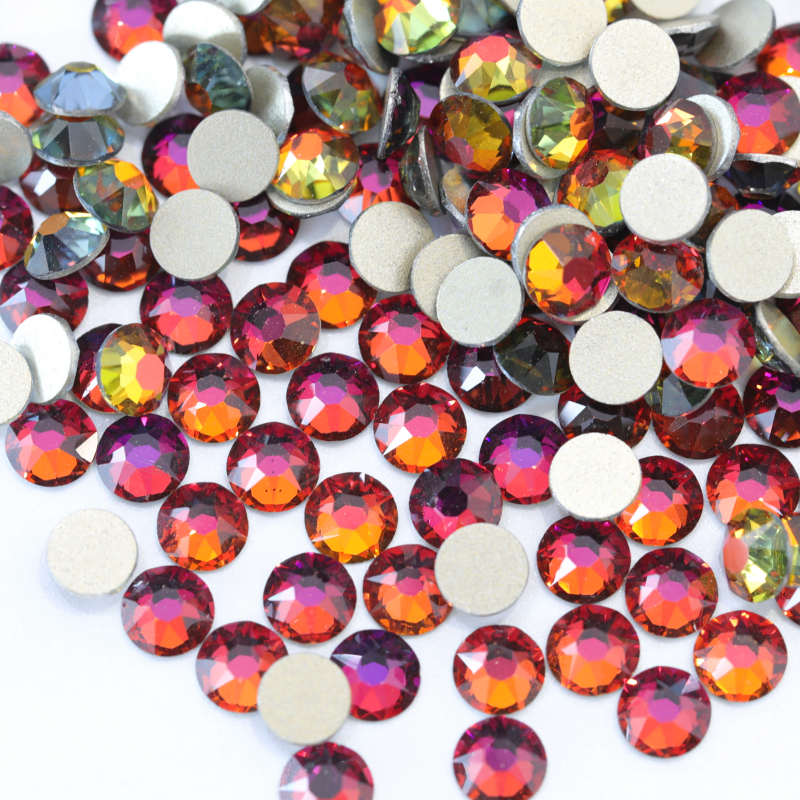 A1 2088 16 cut facets rainbow nail art crystal glass non hotfix rhinestones