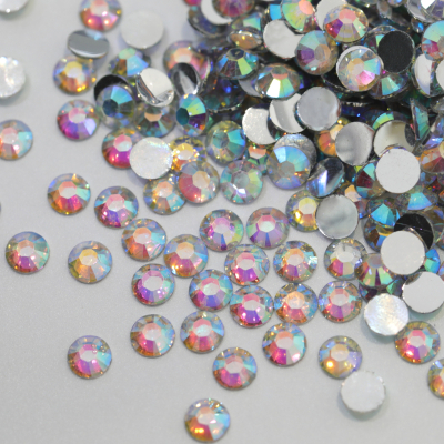 Silver Back Resin Crystal AB Non Hotfix Rhinestones No Foil Back for Phone Decoration