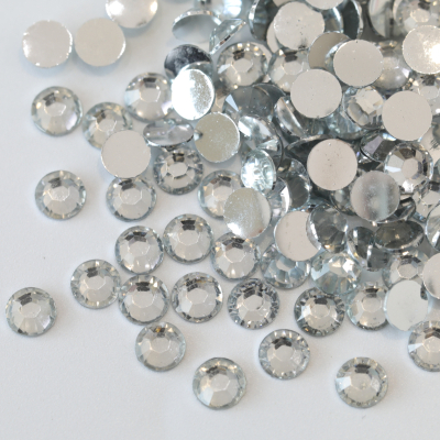 Crystal Resin Rhinestones Silver Flatback Designs for Women Dress Accessories