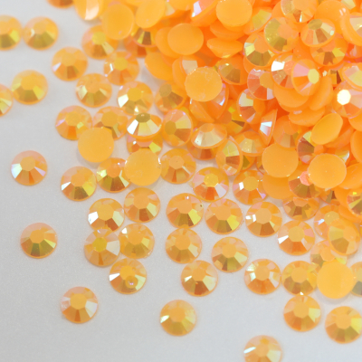 Orange AB Candy Resin Non Hot Fix Rhinestones