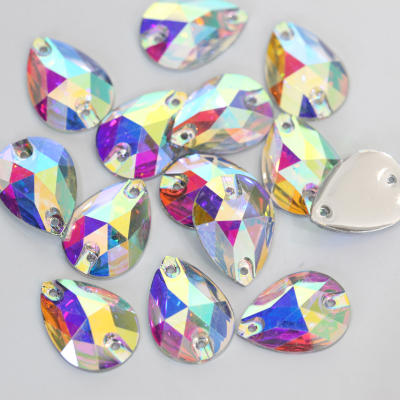 Over 30 shapes resin flat back sew on rhinestone