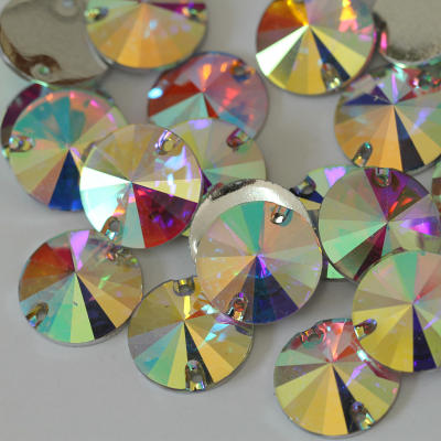 Wholesale plastic resin sew on gemstones