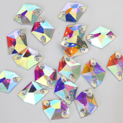High quality resin flatback sewing rhinestones