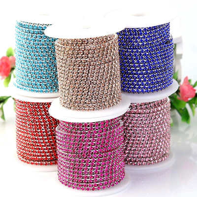 Single row sew on rhinestone cup chain