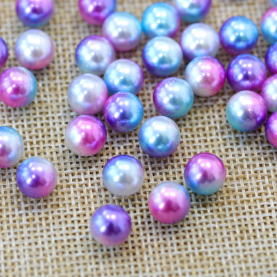 Multicolor Rainbow Natural Loose Freshwater Pearls no Hole Design Pearl Tiara Crown