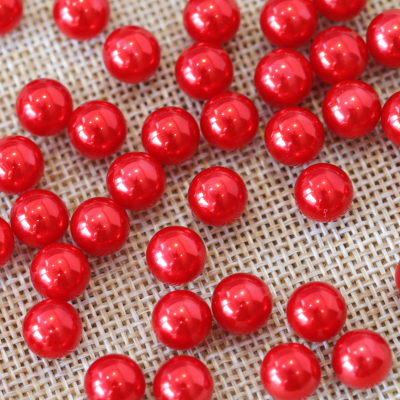 Imitation Pearl Red Faux Beads for Decorating Rhinestone Cowboy Hats