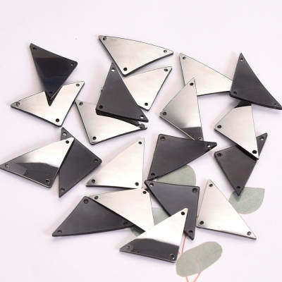 Factory Direct Sale Hematite Acrylic Mirror Stone Sew On Rhinestone For Party Dress