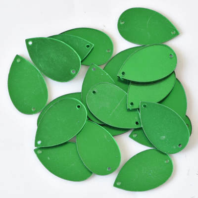 Wholesale Hot Sale Flat Back Sew On Gem Green Acrylic Mirror Sew On Stone