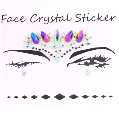 Face Jewelry Sticker Body Sticker Tattoo Crystal Glitter Stickers Face Gems
