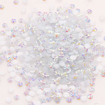 Flatback Non Hot fix Crystal AB Jelly Ice Flower Resin Nail Art Rhinestone Factory