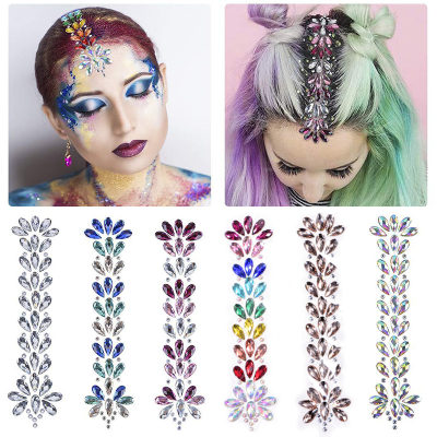 Acrylic Self-adhesive Rhinestones Stickers Temporary Rhinestones Hair Stickers Body Tattoo Stickers for Party