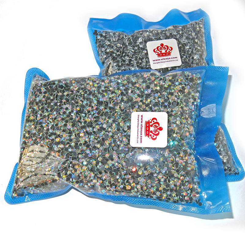 Factory Bottom Price Large Packing Rainbow Color DMC Hotfix Rhinestone Designs for Bags